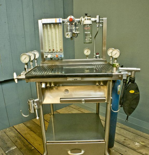 Stainless Steel Anaesthetic Boyles Trolley
